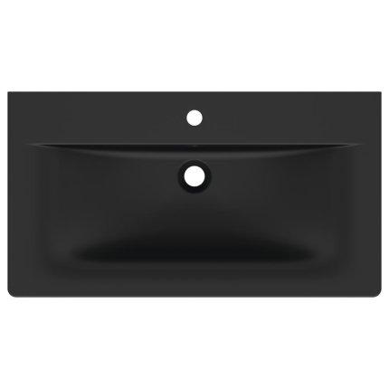 Lavoar Ideal Standard Connect Air 84x46cm, montare pe mobilier, negru mat
