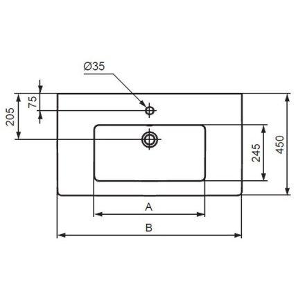 Set mobilier suspendat Ideal Standard Tempo 80cm cu lavoar si dulap baza cu 2 sertare, stejar gri