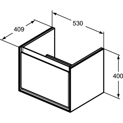 Dulap baza Ideal Standard Connect Air cu un sertar, 53cm, maro deschis