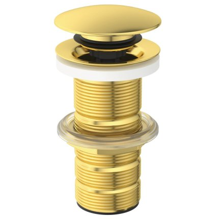 Ventil click-clack Ideal Standard pentru lavoare fara preaplin, auriu periat