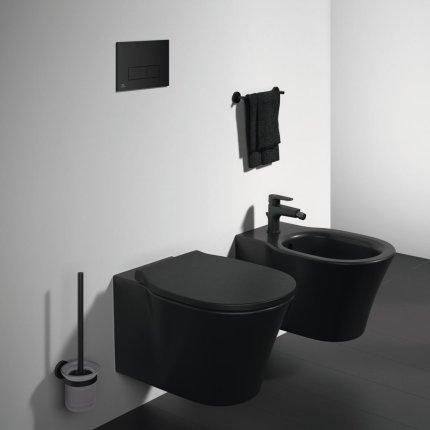 Bideu suspendat Ideal Standard Connect Air, negru mat