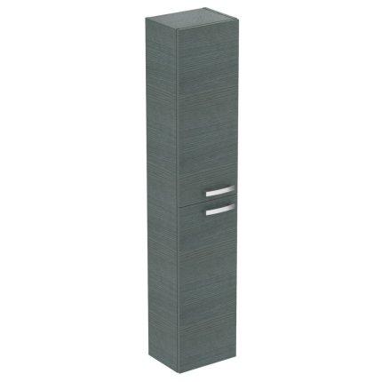 Dulap inalt suspendat Ideal Standard Tempo cu doua usi, 300x235x1500 mm, stejar gri nisipiu