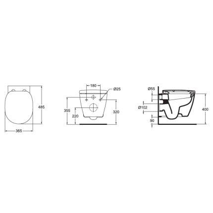 Vas WC suspendat Ideal Standard Connect Compact