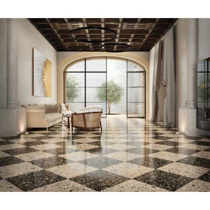 Gresie portelanata rectificata FMG Venice Villa 20x20cm, 10mm, Earth Levigato