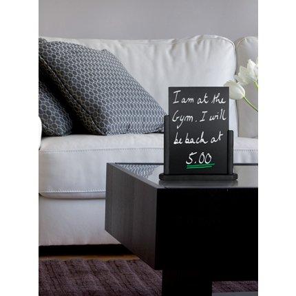 Tabla de scris Securit Elegant 32,3x27x7,1cm cu rama de lemn, negru