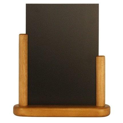 Tabla de scris Securit Elegant 23,3x20x6cm cu rama de lemn, teak