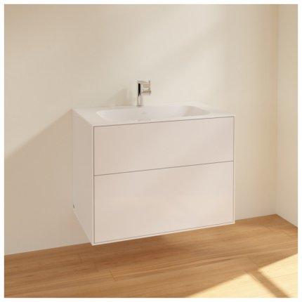 Dulap baza suspendat Villeroy & Boch Finion 80x59x50cm, Glossy White Laquer