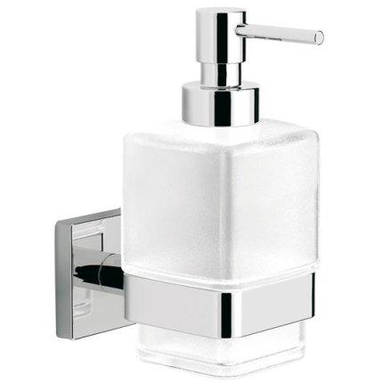 Dozator sapun lichid cu suport de perete Steinberg seria 450 crom/sticla