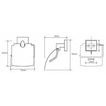 Suport hartie igienica cu aparatoare Bemeta Beta