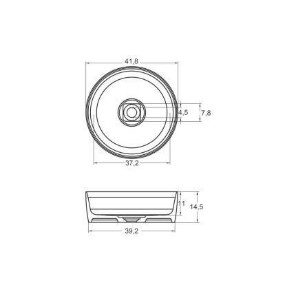 Lavoar Solid Surface Riho Rund 42cm alb mat
