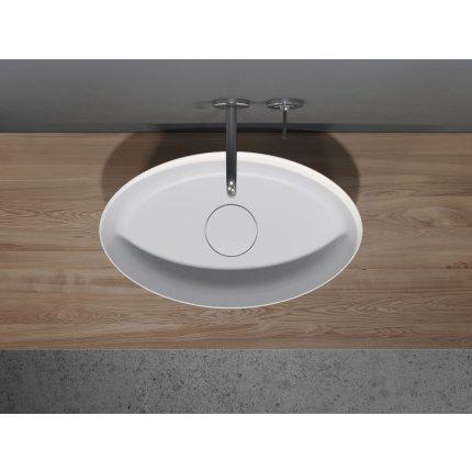 Lavoar Solid Surface Riho Oval 58x35cm alb mat