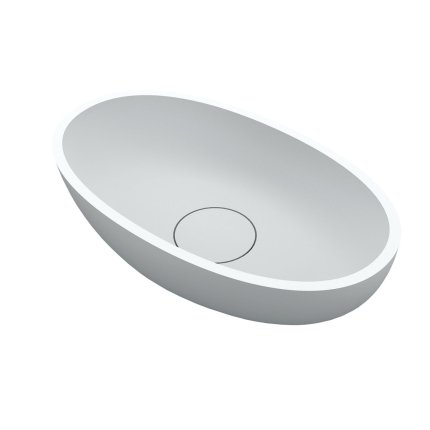 Lavoar tip bol Riho Escala 55x32cm, solid surface, alb mat
