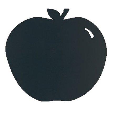 Tabla de scris autoadeziva Securit Silhouette Apple 31,6x29,1x0,3cm, include marker creta, negru