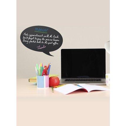 Tabla de scris autoadeziva Securit Silhouette Bubble 27,3x47x0,3cm, include marker creta, negru