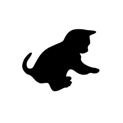Tabla de scris autoadeziva Securit Silhouette Cat 28,8x48x0,3cm, include marker creta, negru