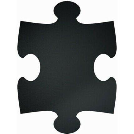 Set table de scris autoadezive Securit Puzzle Square, 40x29.6cm, negru