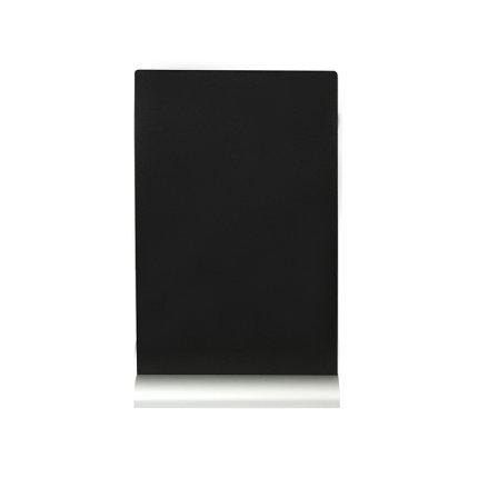 Tabla de scris Securit Silhouette A4 30,8x21x6cm, baza aluminiu, include marker creta, negru