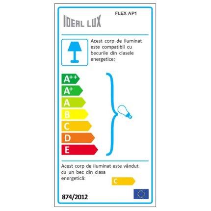 Aplica Ideal Lux Flex AP1, 1x50W, 8x40cm, nichel