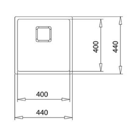 Chiuveta Teka Flexlinea RS15 40.40, 440x440cm, inox