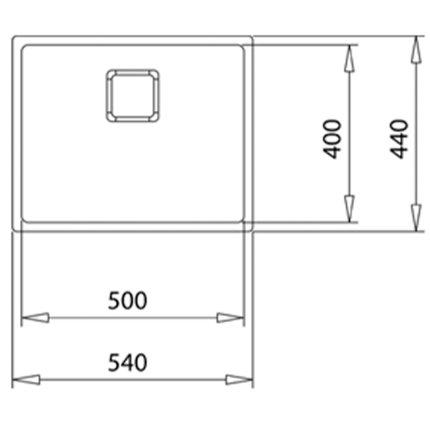 Chiuveta bucatarie Teka Flexlinea RS15 50.40 1B PureClean, 540x440mm, SilentSmart, inox SofTexture anti-pata