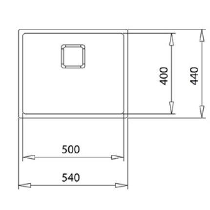 Chiuveta Teka Flexlinea RS15 50.40, 540x440cm, inox