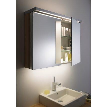 Dulap cu oglinda Duravit Fogo 60x74cm, nuc