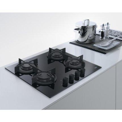 Plita gaz incorporabila Franke Crystal Black FHCR 604 4G HE BK C cu 4 arzatoare, 590x510mm, gratare fonta