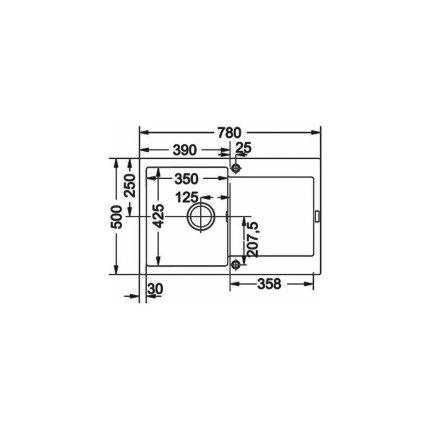 Set Franke Nero: Chiuveta fragranite Maris MRG 611, 780x500mm + Baterie bucatarie Sirius cu dus extractibil