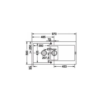 Chiuveta fragranite Franke Maris MRG 651 reversibila 970x500 tehnologie Sanitized Alluminio