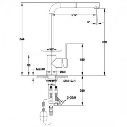 Set Franke inoc: Chiuveta Logica Line LLX 611 picurator stanga, 790x500mm + Baterie bucatarie Sirius cu dus extractibil
