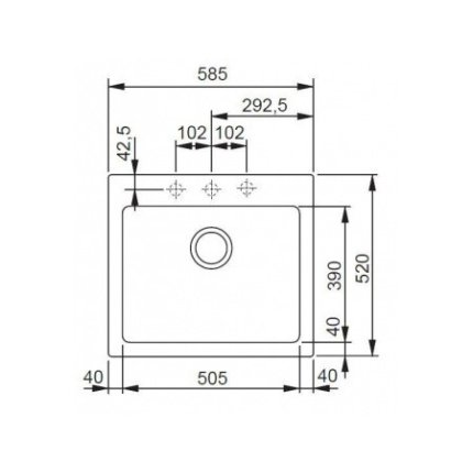 Set Franke Bianco: Chiuveta fragranite Franke Maris MRG 610-58, 585x520mm + Baterie bucatarie Sirius cu dus extractibil