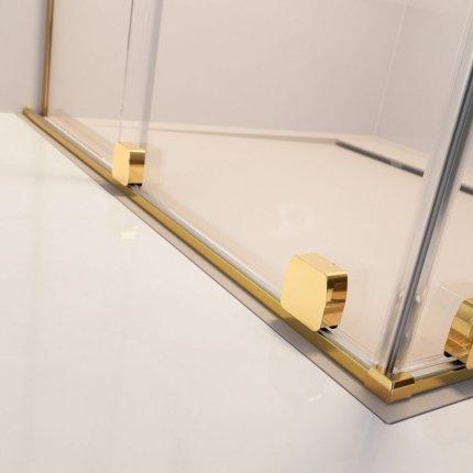 Cabina de dus tip Walk-in Radaway Furo Gold 100 cm, orientare stanga