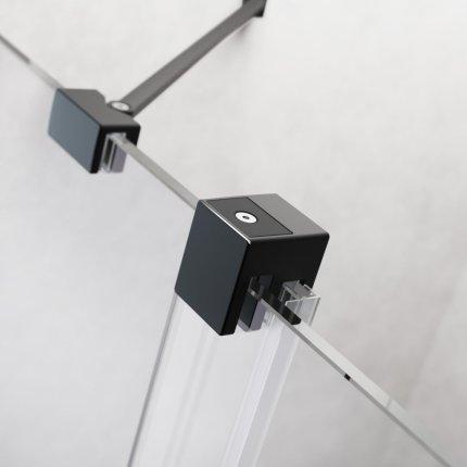 Usa de nisa culisanta Radaway Furo Black DWJ 130cm deschidere stanga