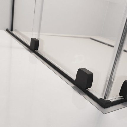 Usa de nisa culisanta Radaway Furo Black DWJ 120cm deschidere stanga