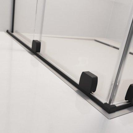 Usa de dus glisanta Radaway Furo Black KDD 80cm, deschidere stanga