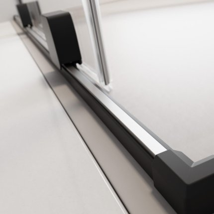 Usa de nisa culisanta Radaway Furo Black DWJ 100cm deschidere stanga