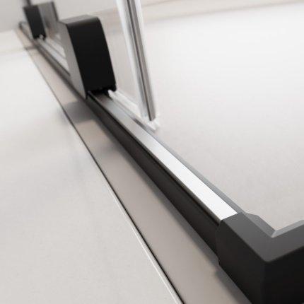 Usa de dus glisanta Radaway Furo Black KDD 80cm, deschidere dreapta