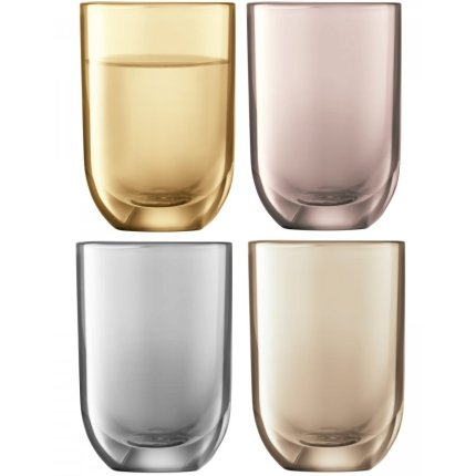 Set 4 pahare LSA International Polka Metallics Vodka 60ml