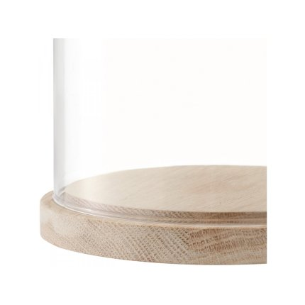 Platou lemn frasin cu capac sticla LSA International Ivalo 15cm, h15.5cm