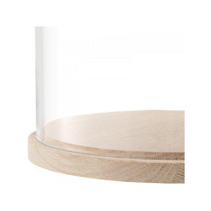 Platou lemn frasin cu capac sticla LSA International Ivalo 22cm, h28.5cm