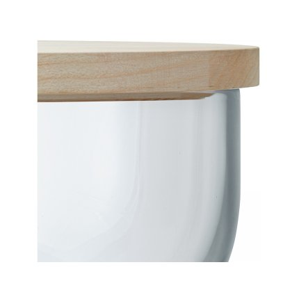 Recipient sticla LSA International Ivalo cu capac lemn frasin h11cm