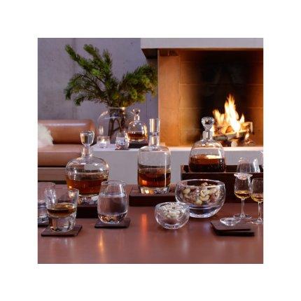 Set 2 pahare LSA International Whisky Arran 250ml cu suport lemn nuc