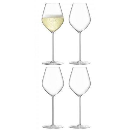 Set 4 pahare LSA International Borough Champagne Tulip 285ml