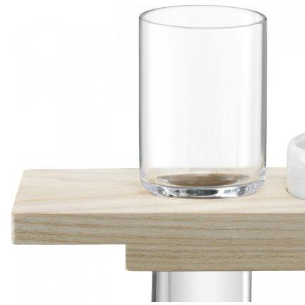 Set LSA International Vodka Solo cu 1 pahar, bol si suport lemn