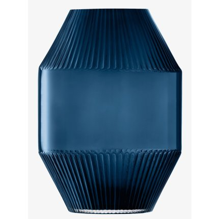 Vaza LSA International Rotunda h37cm, albastru Sapphire