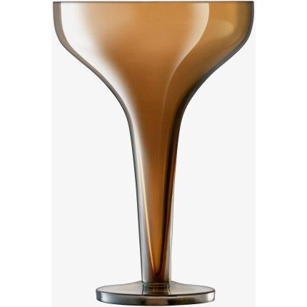 Set 2 pahare sampanie LSA International Epoque Saucer 150ml Amber/Lustre