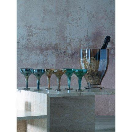 Set 2 pahare sampanie LSA International Epoque Saucer 150ml Sapphire/Lustre