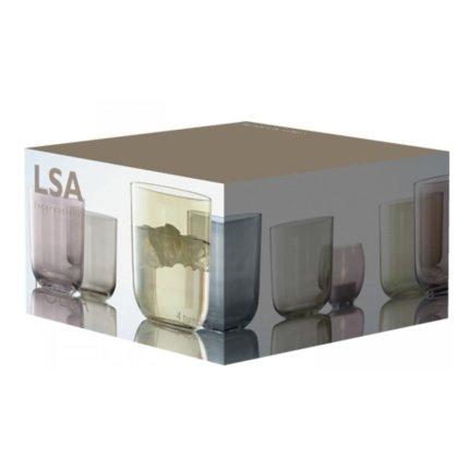 Set 4 pahare LSA International Polka Metallics 420ml