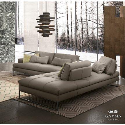 Canapea Gamma Sunset cu 3 locuri, 234cm, piele Deluxe J705, HandMade in Italy