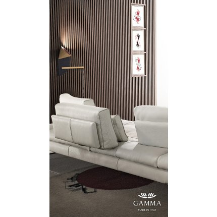 Canapea de colt Gamma Sunset 321x263cm dreapta, piele Danka F803, HandMade in Italy